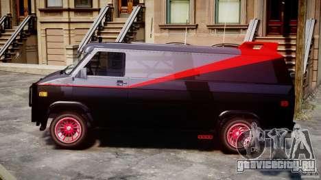 GMC Van G-15 1983 The A-Team для GTA 4 вид слева