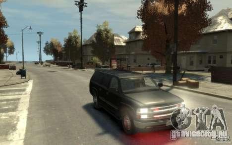 Chevrolet Suburban 2003 FBI для GTA 4 вид сзади