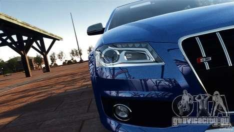Audi S3 2010 v1.0 для GTA 4 вид изнутри