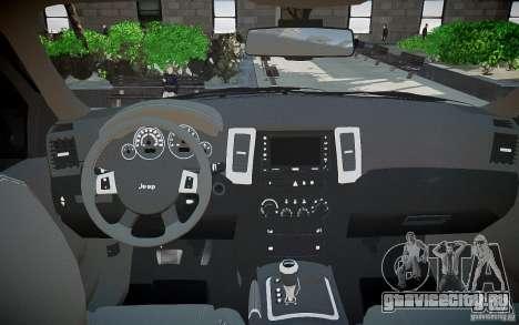 Jeep Grand Cheroke для GTA 4 вид сверху