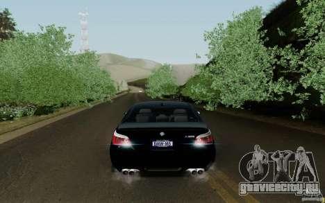 BMW M5 2009 для GTA San Andreas вид справа