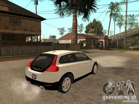 Volvo C30 для GTA San Andreas вид сзади