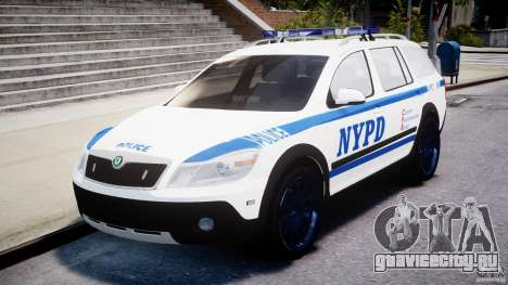 Skoda Octavia Scout NYPD [ELS] для GTA 4 вид изнутри