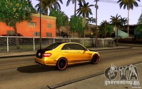 Mercedes Benz E63 DUB для GTA San Andreas вид изнутри