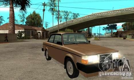 Volvo 240 Turbo для GTA San Andreas вид сзади