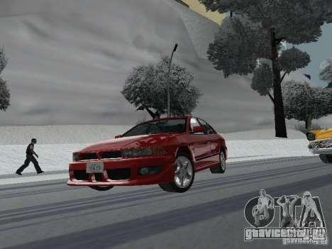 Mitsubishi Galant VR6 для GTA San Andreas вид сзади