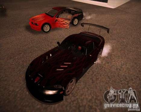 Dodge Viper TT для GTA San Andreas вид слева