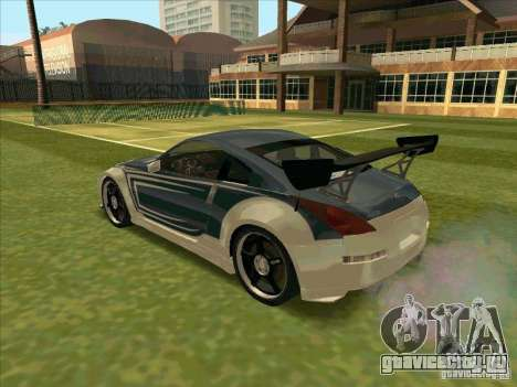 Nissan 350Z Chay from FnF 3 для GTA San Andreas вид слева
