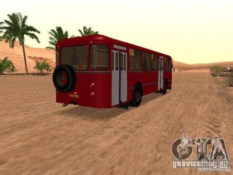 ЛиАЗ 677 для GTA San Andreas вид снизу