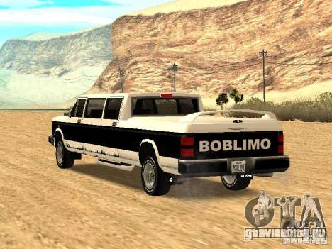 BOBCAT Лимузин для GTA San Andreas вид слева