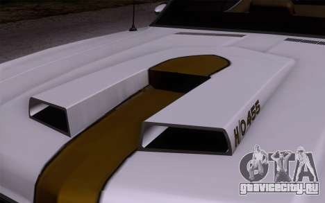 Oldsmobile Hurst/Olds 455 Holiday Coupe 1969 для GTA San Andreas вид сзади