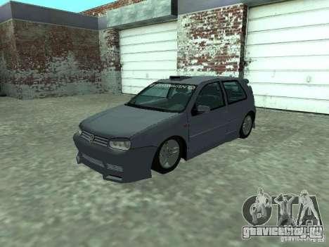 Volkswagen Golf IV для GTA San Andreas вид изнутри