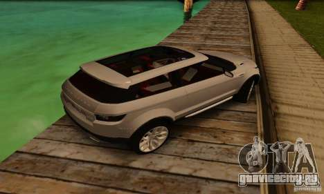 Land Rover Range Rover Evoque для GTA San Andreas вид сзади