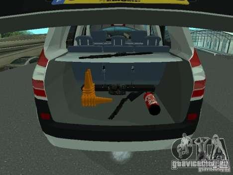 Renault Scenic II Police для GTA San Andreas вид сбоку