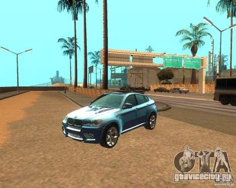 BMW Motorsport X6 M v. 2.0 для GTA San Andreas