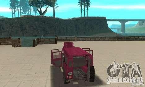Land Rover Defender 110SW для GTA San Andreas вид сбоку
