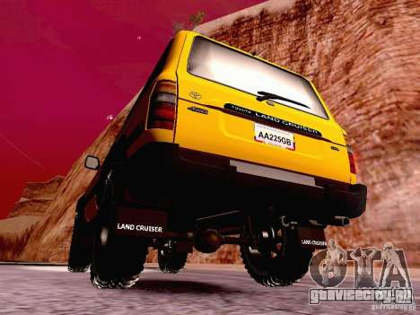 Toyota Land Cruiser 80 Off Road Rims для GTA San Andreas вид сзади слева