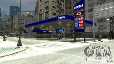 Statoil Petrol Station для GTA 4