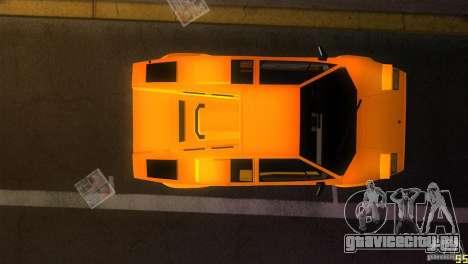 Lamborghini Countach для GTA Vice City вид изнутри