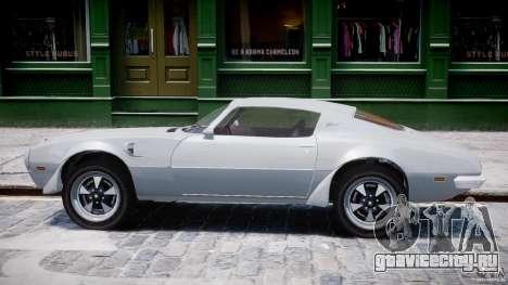 Pontiac Firebird Esprit 1971 для GTA 4 вид сзади слева