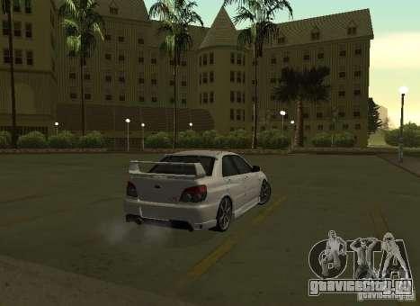 Subaru Impreza WRX STI-Street Racing для GTA San Andreas вид сверху