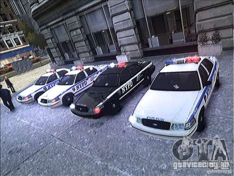 Ford Crown Victoria NYPD 2012 для GTA 4 вид сверху
