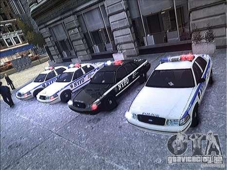 Ford Crown Victoria NYPD 2012 для GTA 4 вид сверху