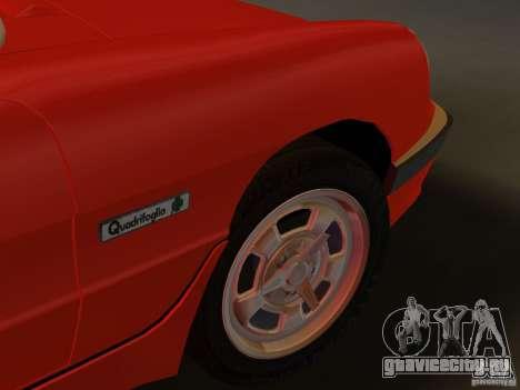 Alfa Romeo Spider 1986 для GTA Vice City вид сзади