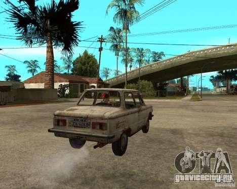 ЗАЗ 968М для GTA San Andreas вид сзади слева
