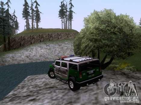 Hummer H2 Polizei для GTA San Andreas вид сзади слева