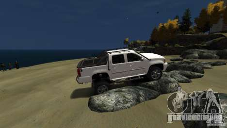 Chevrolet Avalanche 4x4 Truck для GTA 4 вид сзади