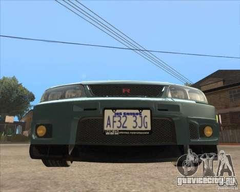 Nissan Skyline GT-R BNR33 для GTA San Andreas вид слева