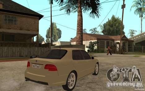 Saab 9-5 для GTA San Andreas вид справа