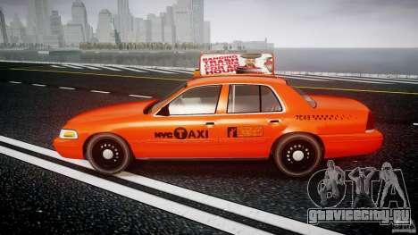 Ford Crown Victoria 2003 v.2 Taxi для GTA 4 вид слева