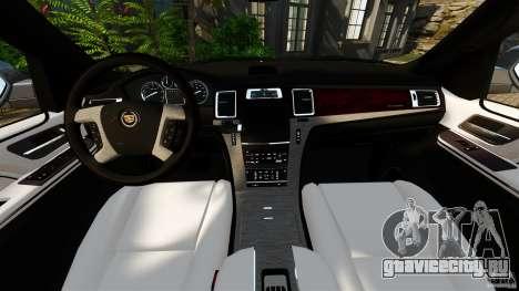 Cadillac Escalade ESV 2012 для GTA 4 вид сзади