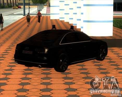 Audi A8 2010 v2.0 для GTA San Andreas вид изнутри
