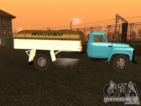 ГАЗ 53 Молоковоз для GTA San Andreas вид слева