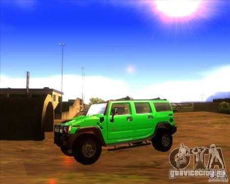 Hummer H2 updated для GTA San Andreas вид слева