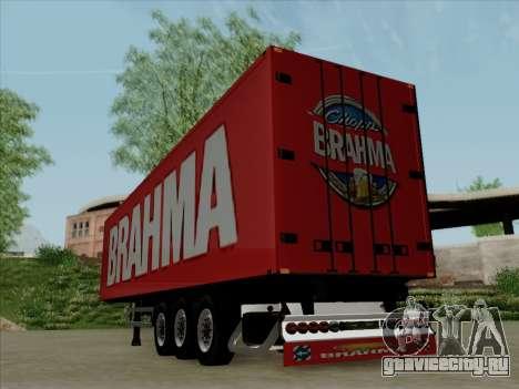 Прицеп для Scania R620 Brahma для GTA San Andreas вид справа
