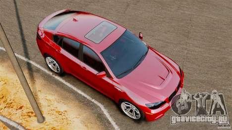 BMW X6 M 2010 для GTA 4 вид справа
