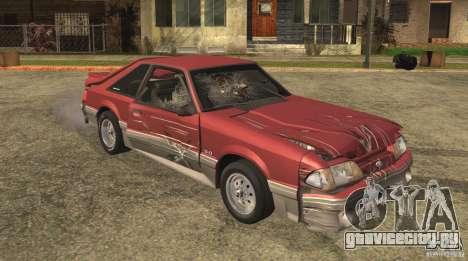 Ford Mustang GT 5.0 1993 для GTA San Andreas вид сверху
