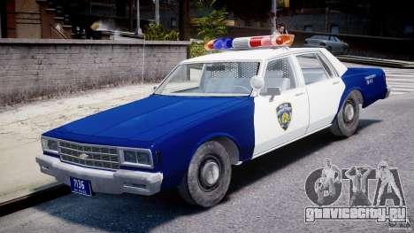 Chevrolet Impala Police 1983 для GTA 4 вид слева
