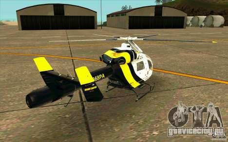 MD 902 Explorer для GTA San Andreas вид сзади слева