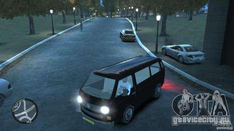 Volkswagen Transporter T3 для GTA 4 вид снизу