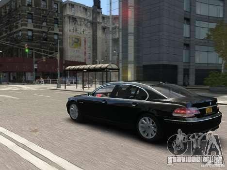 BMW 7 Series E66 2011 для GTA 4 вид снизу