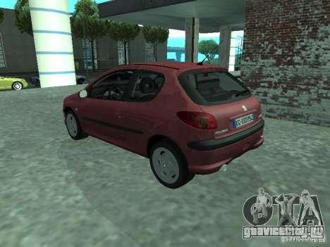 Peugeot 206 HDi 2003 для GTA San Andreas вид слева