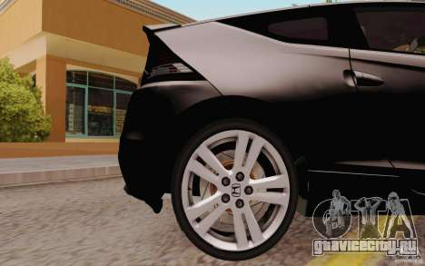 Honda CR-Z 2010 V3.0 для GTA San Andreas вид сзади
