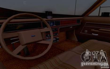 Ford Crown  Victoria LTD 1985 taxi для GTA San Andreas вид сзади