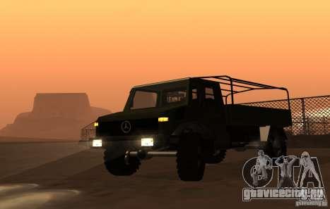 Mercedes-Benz Unimog для GTA San Andreas вид сзади слева