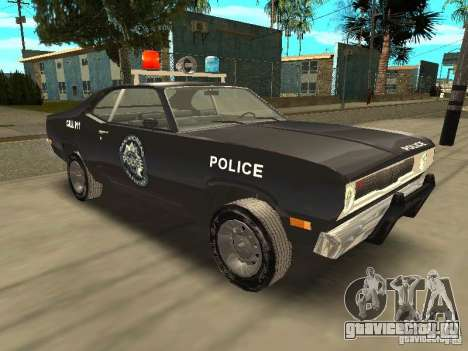 Plymout Duster 340 POLICE v2 для GTA San Andreas вид сзади